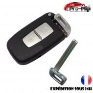 CLE PLIP pour Hyundai i10 i20 ix20 i30 ix35 i40 Santa Fe Veloster 2 boutons COQUE TELECOMMANDE @Pro-Plip
