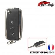 CLE PLIP pour Volkswagen 3 btons Vw Polo Golf Beetle Jetta Passat Bora Tiguan COQUE TELECOMMANDE @Pro-Plip