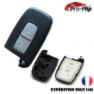 COQUE CLE PLIP pour Hyundai i10 i20 ix20 i30 ix35 i40 Santa Fe Veloster 2 boutons TELECOMMANDE sans lame @Pro-Plip