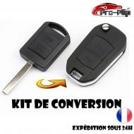 KIT DE TRANSFORMATION CLE PLIP pour OPEL Agila Meriva Astra Corsa Zafira Vectra C Combo 2 boutons conversion @Pro-Plip