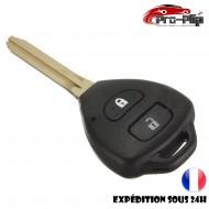 CLE PLIP pour Toyota Rav4 Tarago Yaris Prado Hilux 2 boutons COQUE TELECOMMANDE @Pro-Plip