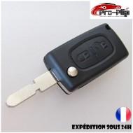 CLE PLIP pour PEUGEOT 2 boutons 205 305 405 406 modèle CE0536 COQUE TELECOMMANDE @Pro-Plip