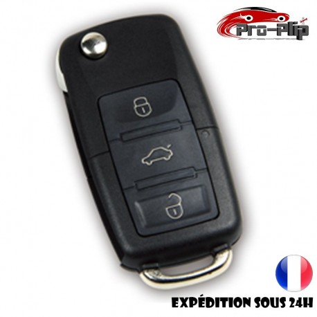 CLE PLIP pour AUDI A2 A3 A4 A5 A6 A8 TT 3 boutons format rectangulaire COQUE TELECOMMANDE @Pro-Plip