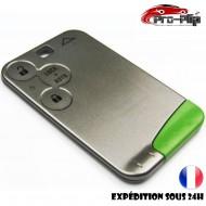 smartcard carte CLE pour Renault 3 boutons Laguna Vel Satis Espace COQUE TELECOMMANDE PLIP @Pro-Plip