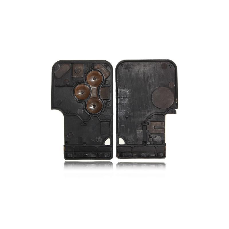 smartcard carte cle pour renault 3 boutons clio 3 megane 2 scenic 2 grand sans lame coque plip. Black Bedroom Furniture Sets. Home Design Ideas