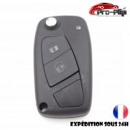 CLE PLIP pour FIAT stilo Ducato Ulysse Punto Bravo Brava modèle 2 bouton NOIR black @Pro-Plip