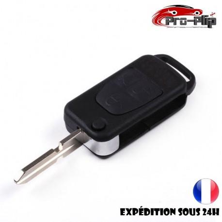 CLE PLIP pour Mercedes Benz ML C CL S SL SEL E A G W Classe 3 boutons lame avec rainures COQUE TELECOMMANDE @Pro-Plip