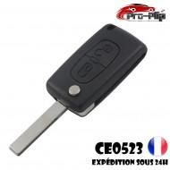 CLE PLIP 2 boutons CITROEN C1 C2 C3 C4 C5 C6 C8 modèle CE0523 lame AVEC rainure COQUE TELECOMMANDE @Pro-Plip