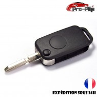 CLE PLIP pour Mercedes Benz ML C CL S SL SEL E A G W Classe 1 bouton lame avec rainures COQUE TELECOMMANDE @Pro-Plip