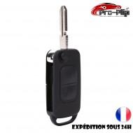 CLE PLIP pour Mercedes Benz ML C CL S SL SEL E A G W Classe 2 bouton lame avec rainures COQUE TELECOMMANDE @Pro-Plip
