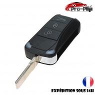 CLE PLIP pour Porsche Cayenne Boxster Cayman Panamera Macan 911 3 boutons COQUE TELECOMMANDE @Pro-Plip