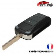 CLE PLIP pour Porsche S GT GTS GT3 Carrera Cayenne Boxster Cayman Panamera Macan 911 2 boutons COQUE TELECOMMANDE @Pro-Plip