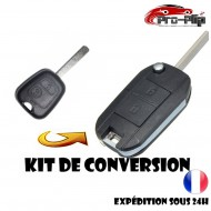 KIT DE TRANSFORMATION CLE PLIP Peugeot 107 207 307 2 boutons conversion TELECOMMANDE @Pro-Plip
