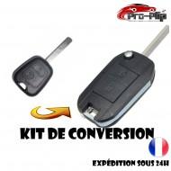KIT DE TRANSFORMATION CLE PLIP CITROEN C1 C2 C3 C4 C5 2 boutons conversion TELECOMMANDE @Pro-Plip