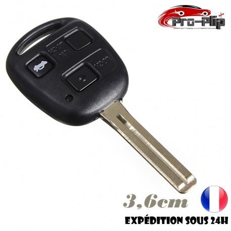 CLE PLIP pour Lexus RX GX ES SC GS LS COQUE TELECOMMANDE 3 boutons lame 3,6cm n°2 @Pro-Plip