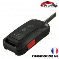 CLE PLIP pour Porsche Cayenne Boxster Cayman Panamera Macan 911 3 boutons + TRAFIC COQUE TELECOMMANDE @Pro-Plip